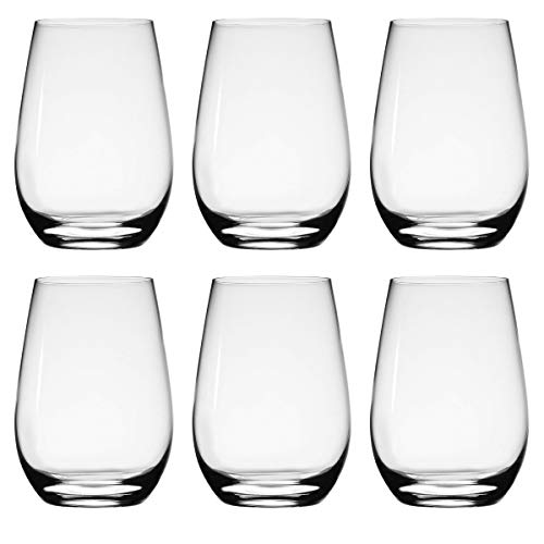 Stolzle Stemless Wine Glasses, 15.75 oz (Set of 6)