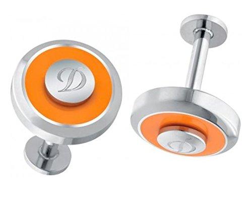 - S.T. Dupont Jeton Reversible Cufflinks - Orange