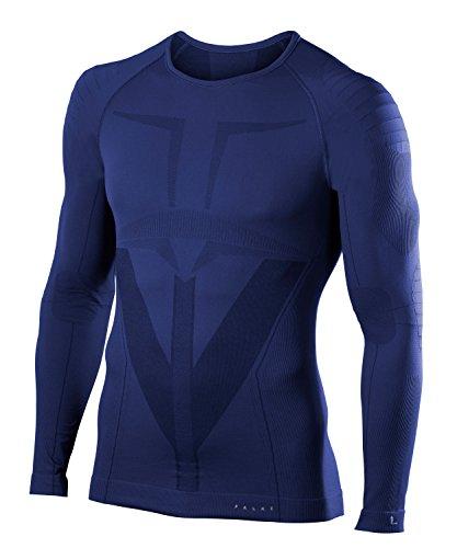 Intimo Fit Notte Men Shirt Blu Tight Falke Longsleeved Warm Sport x6OIT0