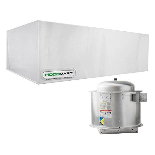 - HoodMart EXH004B Restaurant Exhaust Hood System, 4-Foot X 48-Inch