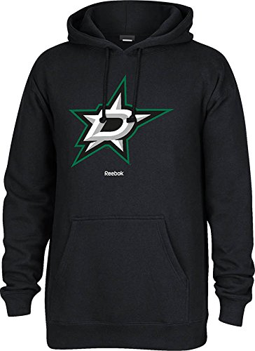 Reebok NHL Dallas Stars Men's Jersey Crest Pullover Hoodie, Small, Black