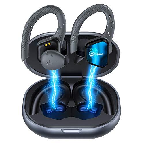 True Wireless Earbuds Wireless Bluetooth Headphones, Vidonn Over Ear Workout Headphones with Microphone Charging Case…