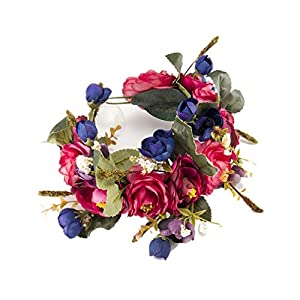 YAZILIND Flower Wreath Headband Floral Garland Bridal Flower Garland for Wedding Party Festivals Photography Decoration…
