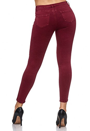 Floreali Chiaretto Treggings Jeans Motivi Floreale Arizonashopping Da Ricamo D2083 Donna Con Ppw4SBq