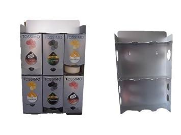 Tassimo Accesorios Kapselcenter, T Disc Dispensador de con Estante de la taza y Separadores De