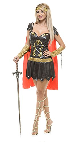 Princess Costume Xena Accessories Warrior (Charades Women's Warrior Queen Costume, As Shown,)