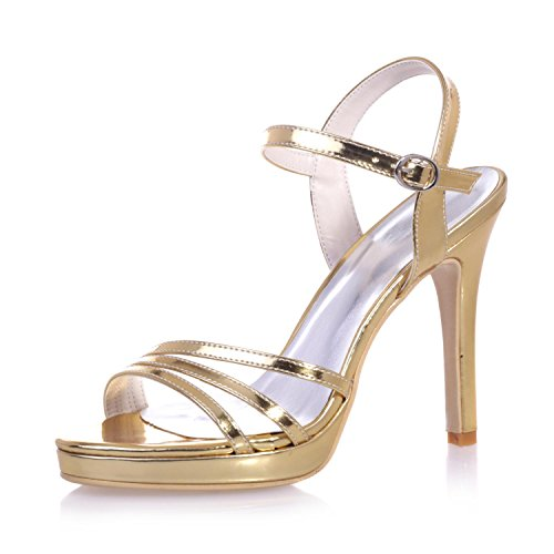 Sandals L amp; 5915 Stiletto Night amp; Yellow 27 YC PU Careers Women's Office Summer amp; Dresses Casual UUXwrf