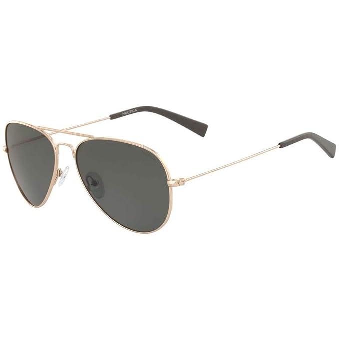 Nautica N4616Sp 717 58, Gafas de sol para Hombre, Gold ...