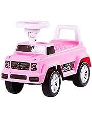 الركوب، سيارة أطفال، سيارة أطفال، سيارة لعبة. سيارة دفع مع نغمات موسيقية للأطفال بعمر 1.5-3 سنوات C202، لون وردي