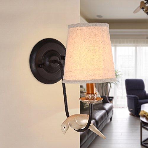 Birdie Simple Lampe Chevet Murale Couloir Lamp De Pastoral Style TFuKJl13c