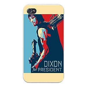 """Apple iPhone Custom Case 4 4S White Plastic Snap On - """"Dixon for President"""