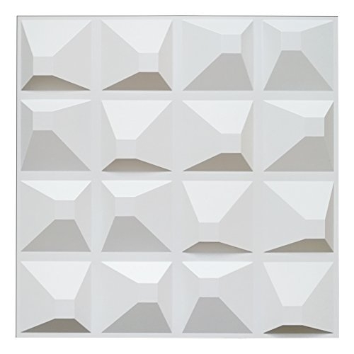 Decorative 3D Panels Textured Wall Design Board Pack of 12 Tiles 32 Sq Ft