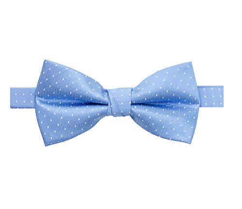 Spring Notion Men's Microfiber Dotted Bow Tie Light Blue