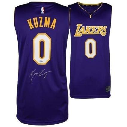 los angeles 597ae 0c144 Kyle Kuzma Autographed Signed Memorabilia Purple Los Angeles ...