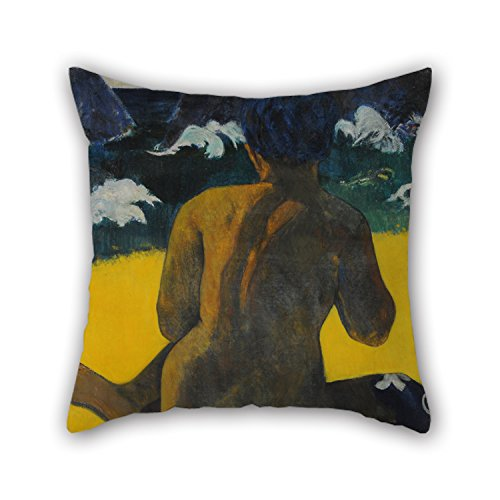 Beautifulseason Oil Painting Gauguin, Paul - Vahine No Te Miti (Femme A La Mer) (Mujer Del Mar). Throw Pillow Case ,best For Sofa,teens Girls,bf,gril Friend,father,husband 20 X 20 Inches / 50 By 50 (Del Mar Sectional Sofa)