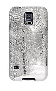 DavidMBernard DBIFrNk7653SOifj Case For Galaxy S5 With Nice Winter Dual Screen Appearance
