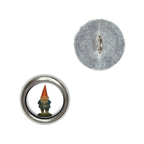 Graphics and More Garden Gnome Metal Craft Sewing Novelty Buttons - Set of 4