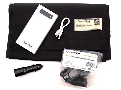PowerFilm Solar 20 Watt Power Bank Kit by PowerFilm Solar
