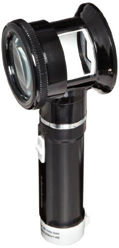 Donegan V980-5 Flashlight Magnifier with Measurement Scale Lens, 5x Magnification, 50mm Lens Diameter
