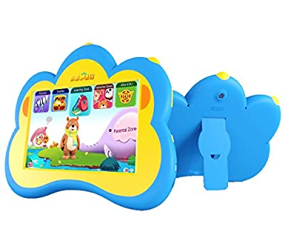 """B.B.PAW Kids Tablet 7"""" Whole Brain Education Tablet for Kids 2 to 6 Years Old with 90+ Preloaded Learning and Training Apps"""