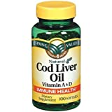 Spring Valley – Cod Liver Oil with Vitamin A & D 100 softgels