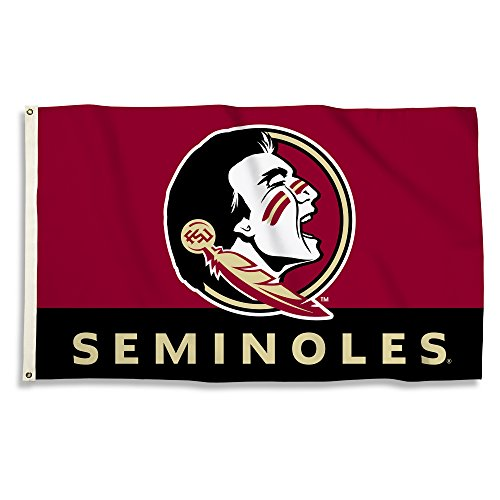 BSI NCAA Florida State Seminoles Flag with Grommets, 3' x 5', -