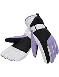 Women's Thinsulate Lined Waterproof Outdoors Ski Gloves