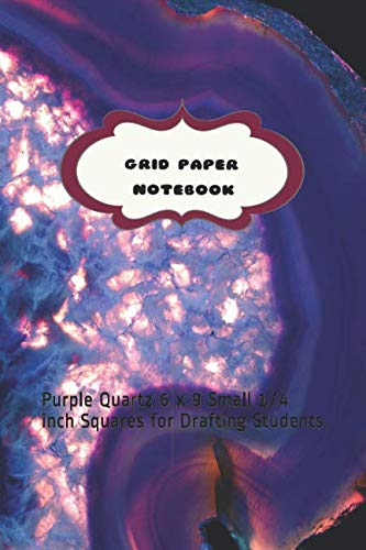 Grid Paper Notebook: Purple Quartz 6 x 9 Small 1/4 inch Squares for Drafting Students