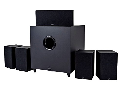 Monoprice 10565 Premium 5.1 Channel Home Theater System with Subwoofer by Monoprice