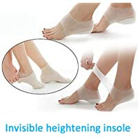 ALEXTREME Heel Cups Invisible Height Lift Heel Pad Sock Liners Increase Insole Pain Relieve 3cm for Women Men Comfort Foot Cushions Pads