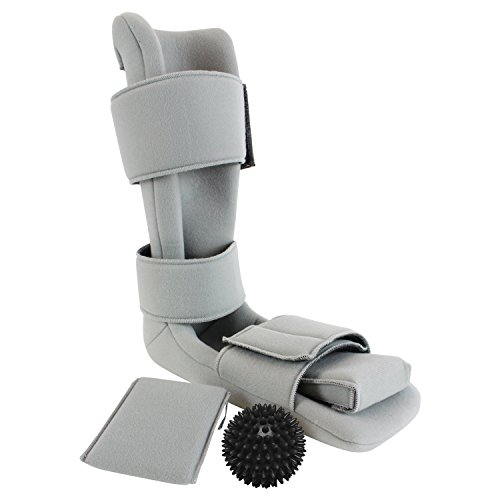 Plantar Fasciitis Night Splint by Vive - Soft Medical Brace Boot for Heel Spurs, Foot Pain, Heel Pain, Achilles Inflammation & Soreness - Foot Splint Drop