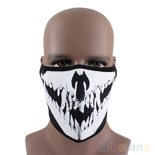 Shalleen Punk Skull Neoprene Half Face Mask Ski Skate Snowboard Motorcycle (Spiderman Costumes In India)