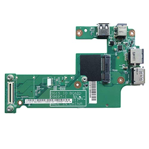 GzPuluz Replacement Parts USB Charger Board DC Jack Board LAN Board DG15 IO Power Board 09697-1 for Dell Inspiron 15R N5010