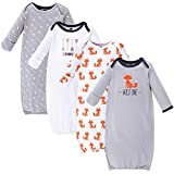 Hudson Baby Unisex Cotton Gowns, Wild One, 0-6 Months