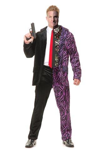 [Mens Split Personality Halloween Costume size Medium 40] (Two Face Batman Halloween Costume)
