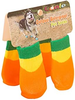 8a58df9cc413b Amazon.com : Haoweidaoshanghang Dog Shoes, Waterproof Non-Slip Shoes ...