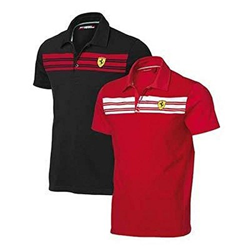 Ferrari Polo Hombre Rayas Negro o Rojo: Amazon.es: Deportes y aire ...