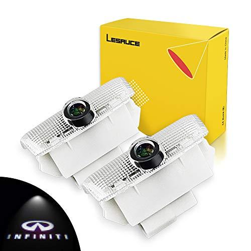 Car Door Projector Lights for Infiniti Courtesy Lamps Ghost Shadow Lights EX FX G  M Q50 Q60 QX50 QX56 QX70 QX80 Accessories Welcome Projector Lights, 2 Pack
