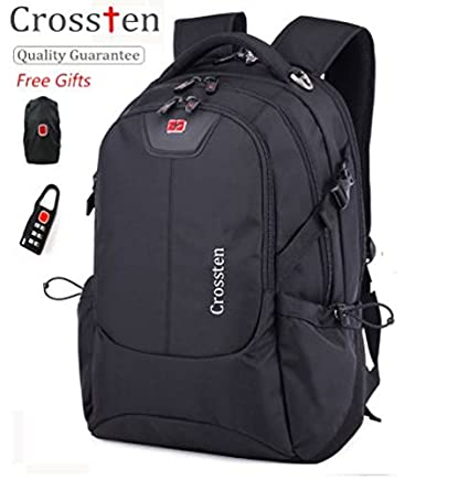 Image Unavailable. Image not available for. Color  Swiss bag Crossten Men  Women Laptop Backpack Computer Outdoor School Army Travel ... ac1187e04d07c
