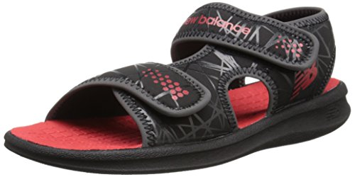 New Balance Sport 2 Strap Adjustable Sandal (Infant/Toddler/Little Kid/Big Kid) Black/Red