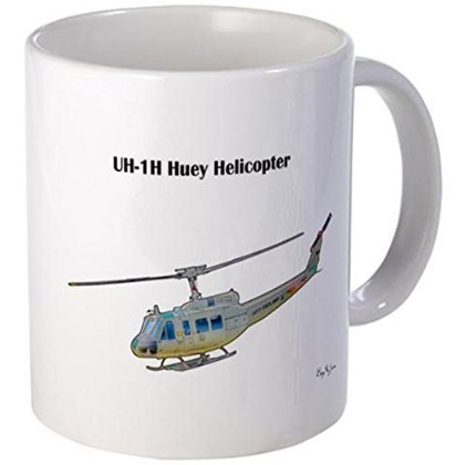 11 ounce Mug - UH-1H Huey Helicopter Mug - S White for sale  Delivered anywhere in USA