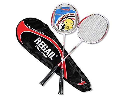 (CHASIROMA Badminton Racket 2 Player Badminton Racquets Set Double Rackets Racket Set Carrying Bag Included)