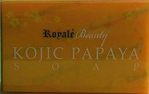 Royale Kojic Acid Papaya Skin Lightening Effective Acne Soap Diminishes Dark Spots