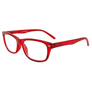 In Style Eyes Seymore Wayfarer BiFocal Reading Glasses Red 1.50