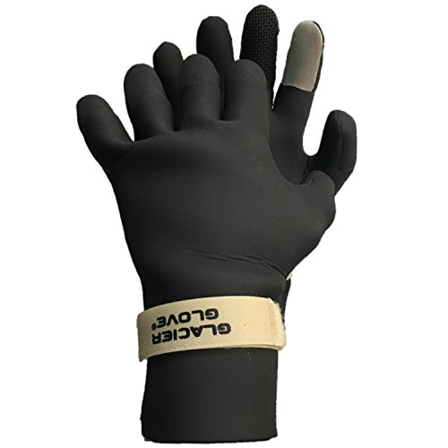 (Glacier Glove Pro Hunter Waterproof Neoprene Shooting Glove, Black/Beige,)