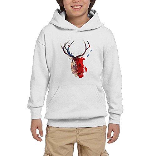 Deer Horn England Flag Background Youth Fashion Hedging Novelty - Deer England Black