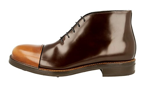 Prada Spazzolato Leather Boot Men's Brushed 2TG108 Half prxZvpH