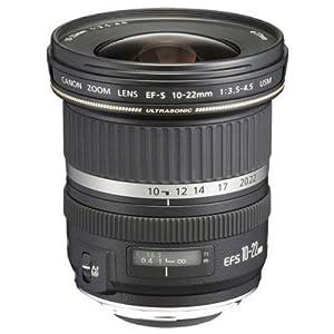 Canon EF-S 10-22 mm f/3.5-4.5 USM Lens, Black
