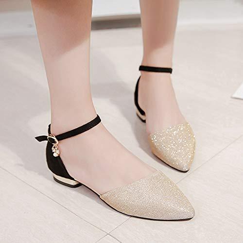 Pointu chaussure pour Chaussures à Talon Femme Femmes Chaussures Femme Bout à Mode Plat Yesmile 4TSqnFzxz