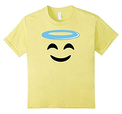 Angel Smile Face Funny Emoji tee shirt group couple costume